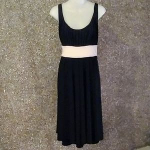Nine West Black & White Empire Waist Dress